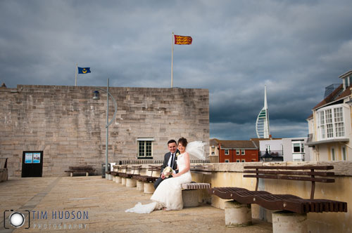 Wedding Photography The Square Tower Portsmouth Hampshire - The Square Tower in Old Portsmouth, Hampshire, is the most popular of Portsmouth's wedding venues.